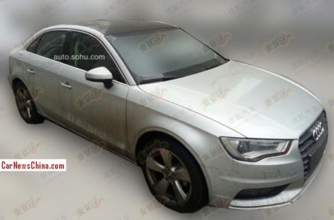 Spy shots: China-made Audi A3 sedan is Almost Ready for the Chinese auto market