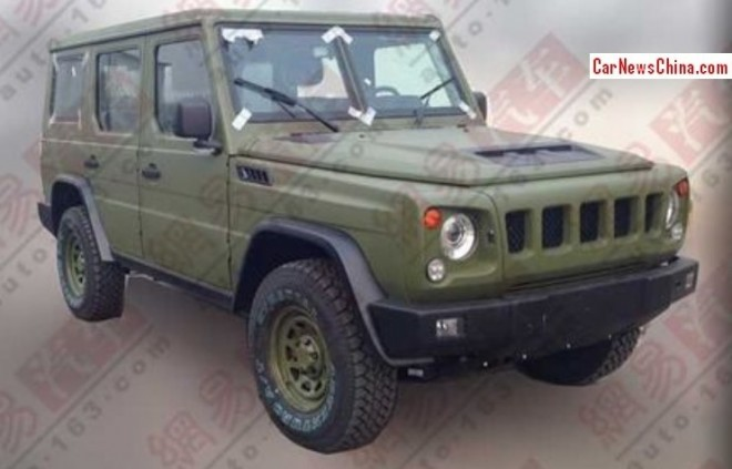 Spy Shots: Beijing Auto V80 is Ready for the Chinese army