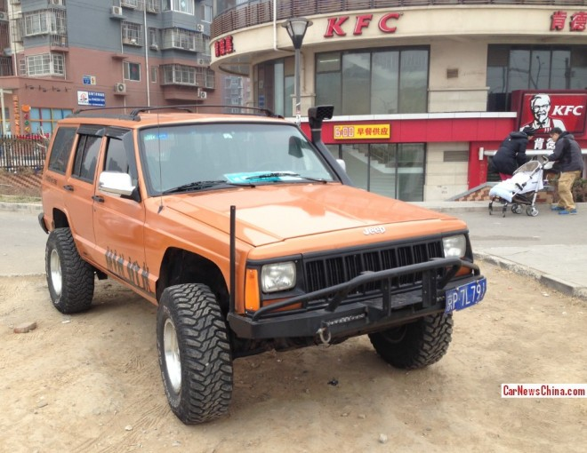 Beijing-Jeep Cherokee is Counter Strike in China