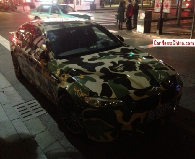 BMW M5 goes BAPE in China