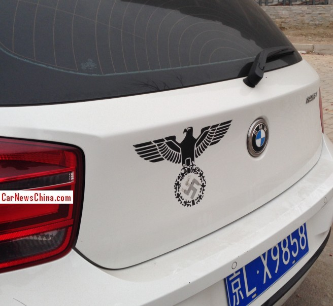 BMW driver in China admires the Third Reich
