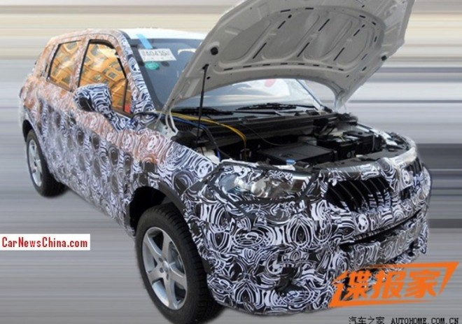Spy Shots: new Brilliance compact SUV testing in China