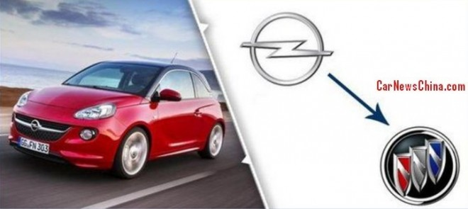 Opel Adam will be a Buick in China