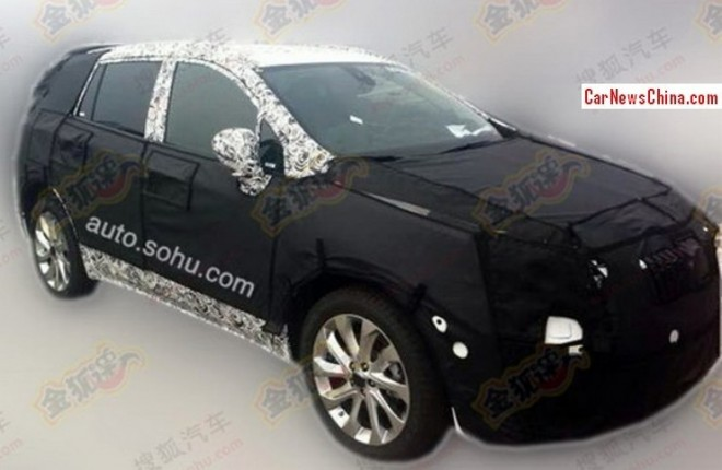 Spy Shots: Buick Envision SUV testing in China