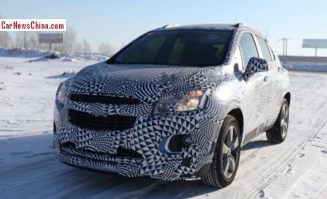 Spy Shots: Chevrolet Trax testing in the Snow in China