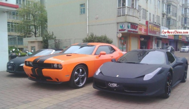 Dodge Challenger is a Big Orange Car in China