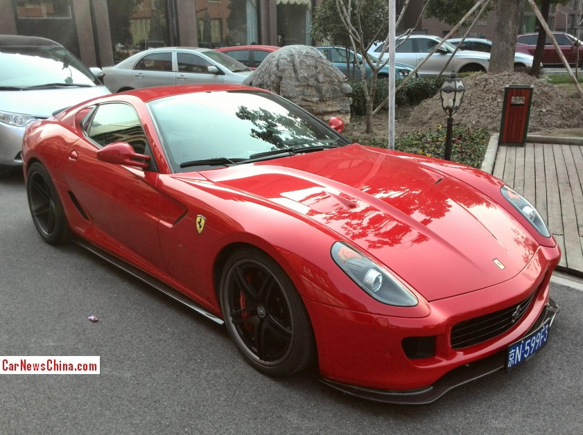 Ferrari 599 Is Modified With A License In China