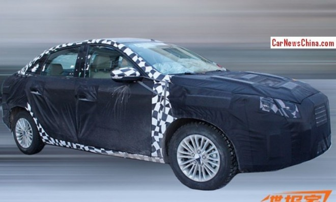 Spy Shots: new Ford Escort sedan seen testing in China