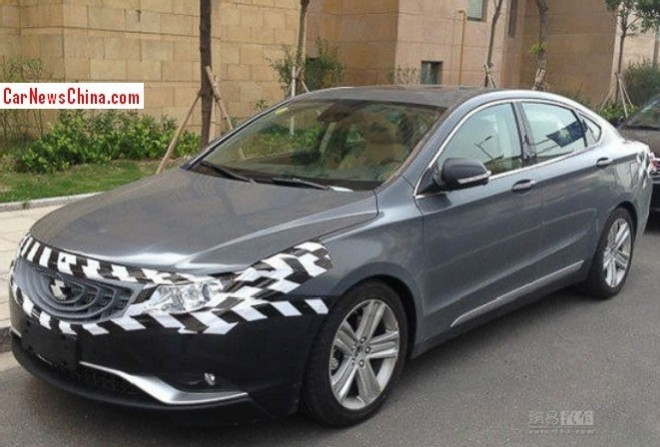 Spy Shots: Geely Emgrand EC9 is almost naked in china