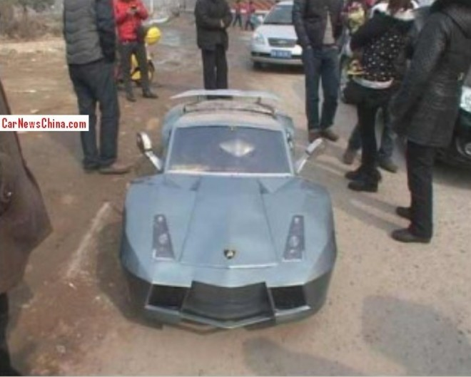 Chinese man Builds Electric Powered mini Lamborghini