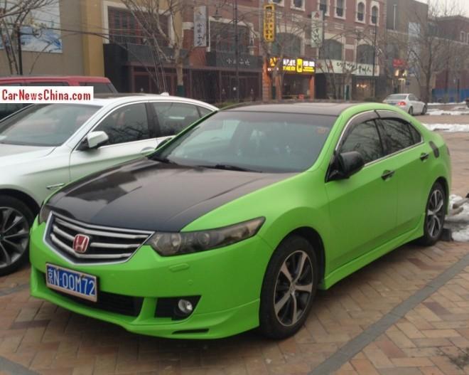 Honda Spirior is matte green and black in China