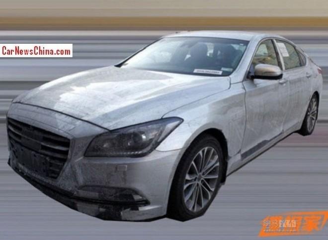 Spy Shots: 2015 Hyundai Genesis testing in China