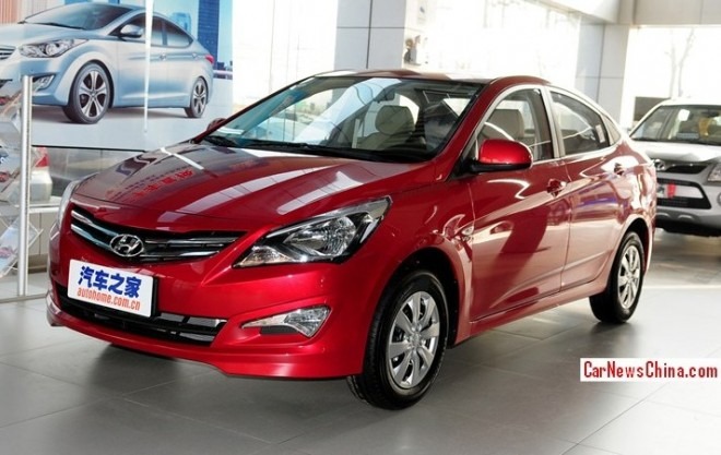 Facelifted Hyundai Verna arrives at the Dealer in China