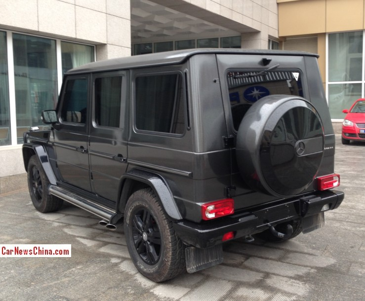 suspension lowered by about an inch matte gray black theme perfectly executed all over the vehicle the g550 is the base g class in most markets - Mercedes G Class 2015 Black