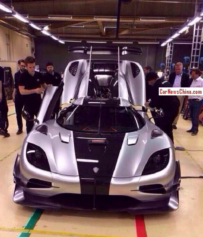 First live Pictures of the Koenigsegg Agera One:1 for China