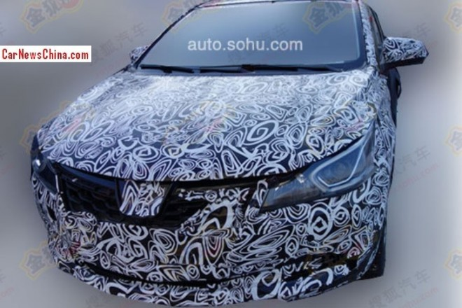 Spy Shots: Luxgen compact sedan seen testing in China