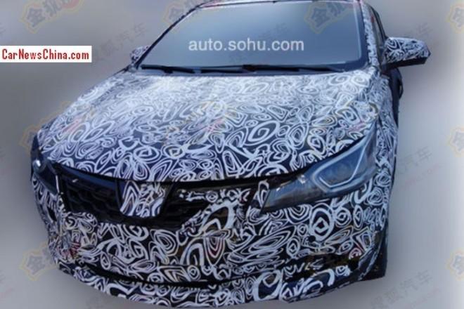 Spy Shots: Luxgen compact sedan seen testing in China