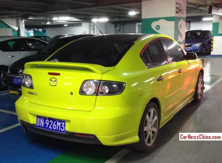 Mazda 3 is a shiny yellow M3 in China - CarNewsChina.com