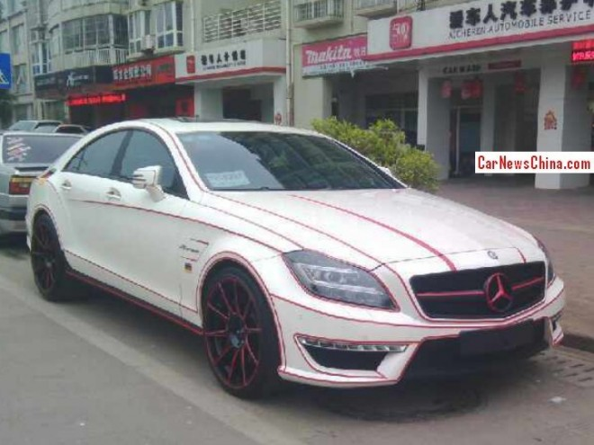 Mercedes-Benz CLS 63 AMG with Pink Stripes in China