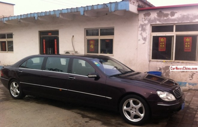 Spotted in China: W220 Mercedes-Benz S-Class Pullman stretched limousine
