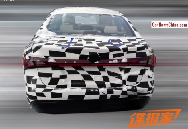Spy Shots: MG5 Four-door Coupe seen testing in China