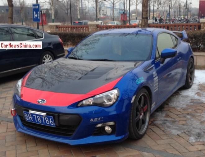 Subaru BRZ is an 86 in China