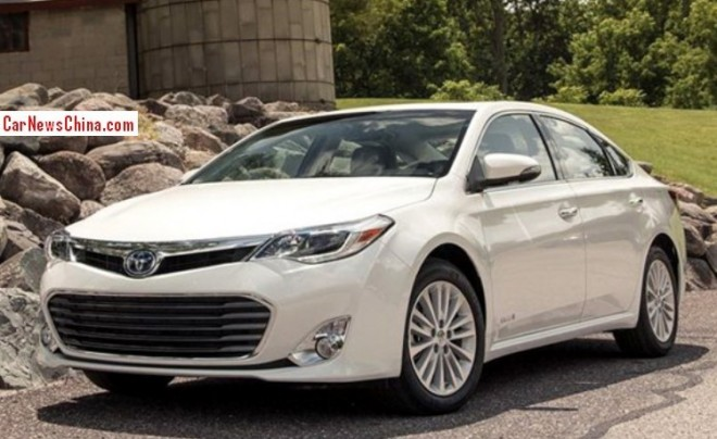 Toyota Avalon will be launched on the China car market in 2015