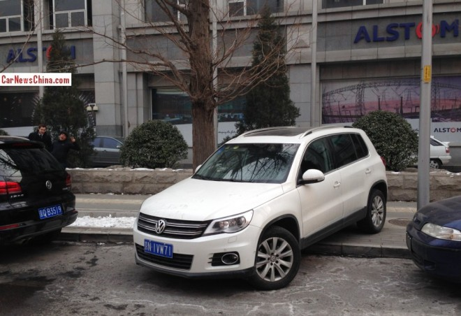 Volkswagen Tiguan Parks like a Professional A*hole in Beijing