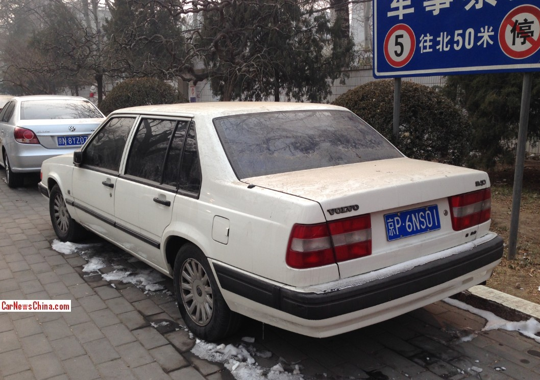 spotted in china volvo 940 s 2 3 sedan. Black Bedroom Furniture Sets. Home Design Ideas