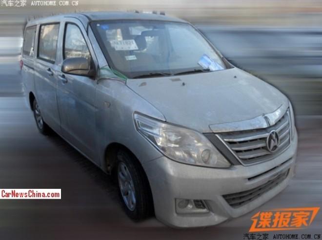 Spy Shots: Yema M302 mini MPV testing in China
