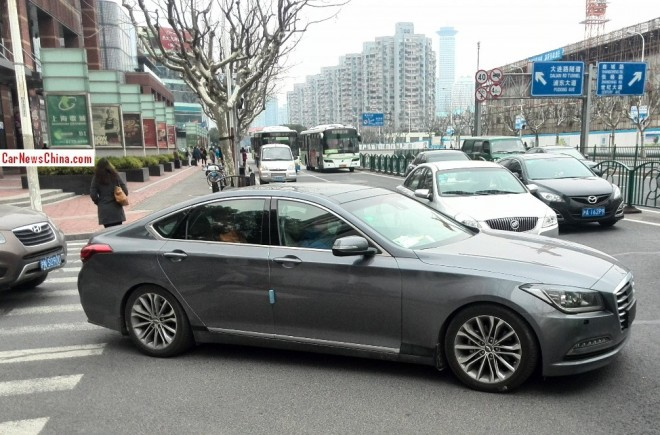 Spy Shots: 2015 Hyundai Genesis seen testing in China