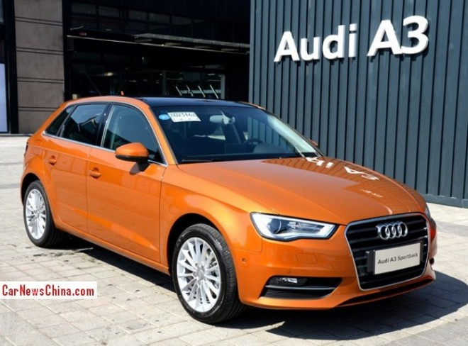 China-made Audi A3 Sportback launched on the Chinese auto market