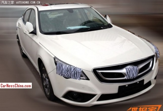 Spy Shots: Beijing Auto C60 is Almost Naked in China