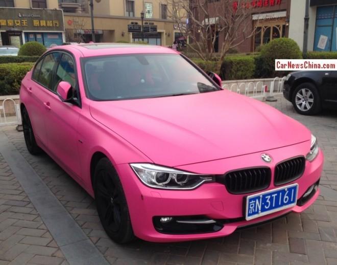 BMW 3-Series sedan is matte Pink in China