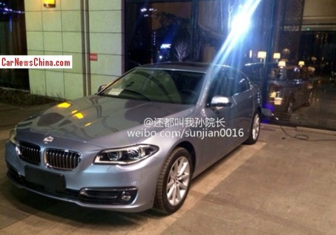 Spy Shots: BMW 530Le plug-in hybrid for the China car market