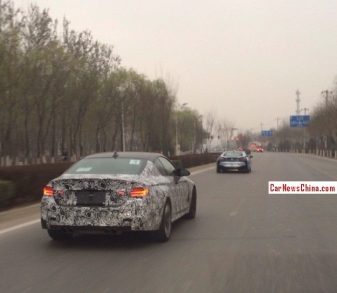 Spy Shots: BMW i8 & BMW M4 testing in China