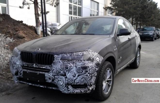 Spy Shots: BMW X4 testing in China