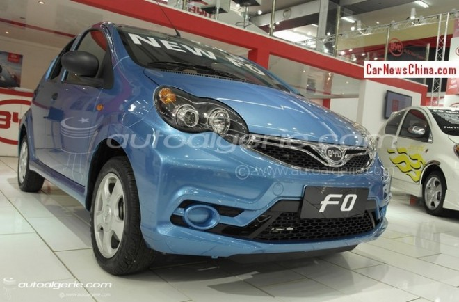Facelifted BYD F0 debuts in Algeria