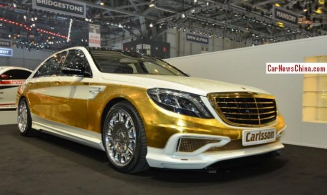 Carlsson CS50 Versailles is a Golden Mercedes-Benz for China