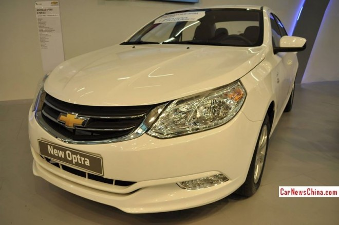 China-made Chevrolet Optra debuts in Algeria