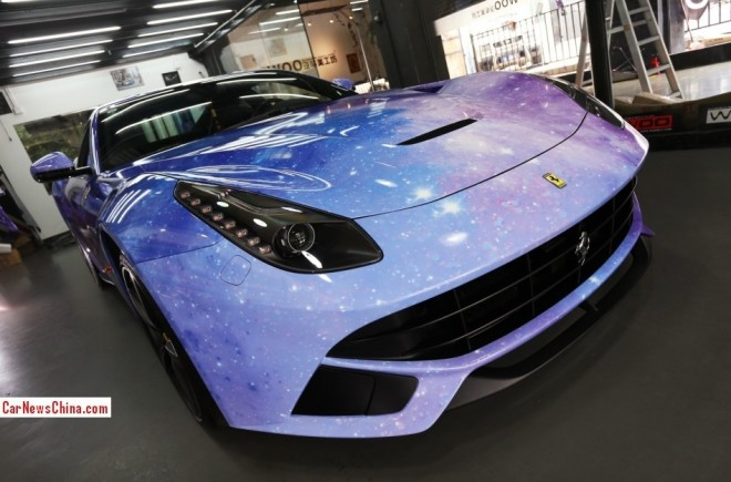 Ferrari F12berlinetta is the Galaxy in China