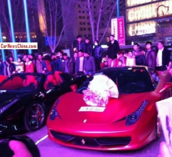 Chinese man asks Girlfriend to Marry him, she says Yes, he gives her a Ferrari