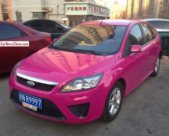 Ford Focus Classic is a Pink Ford Fucos in China