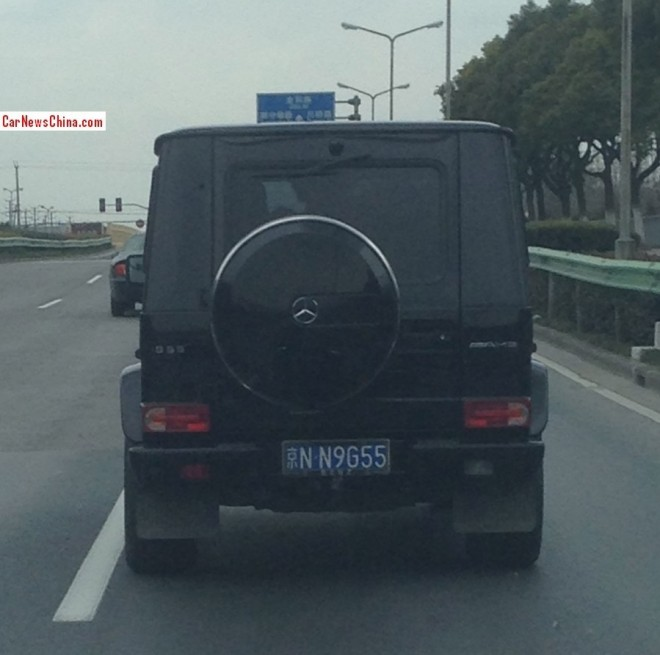Black Mercedes-Benz G55 AMG has a License in China