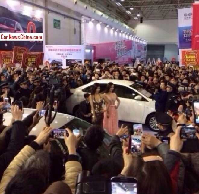 Gan Lulu & Gan Maomao do the & a friend do the Guilin Auto Show