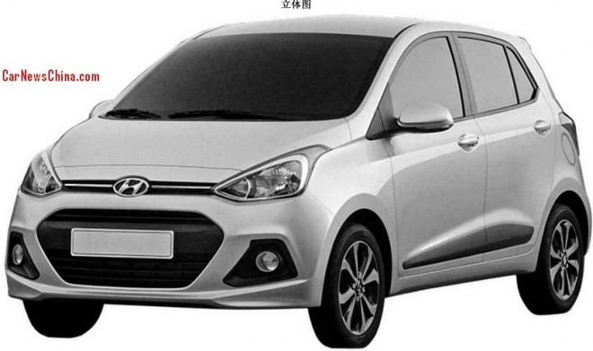 Patent Applied: Hyundai i10 to Come to China