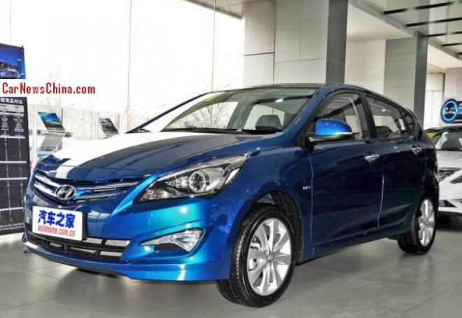 Facelifted Hyundai Verna hatchback launched on the China car market