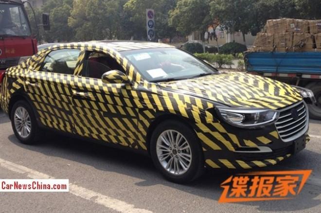 Spy Shots: new JAC sedan testing in China