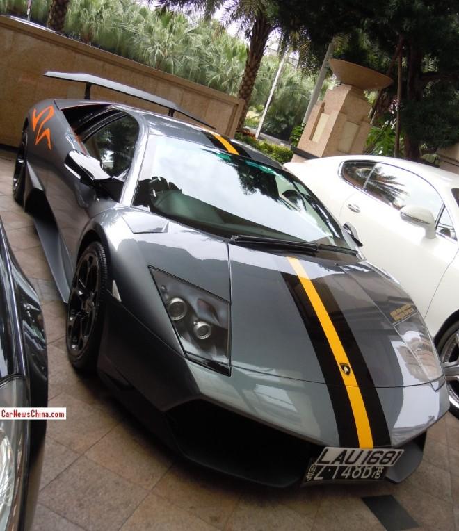 Spotted in China: Lamborghini Murcielago LP 670–4 SV China Limited Edition