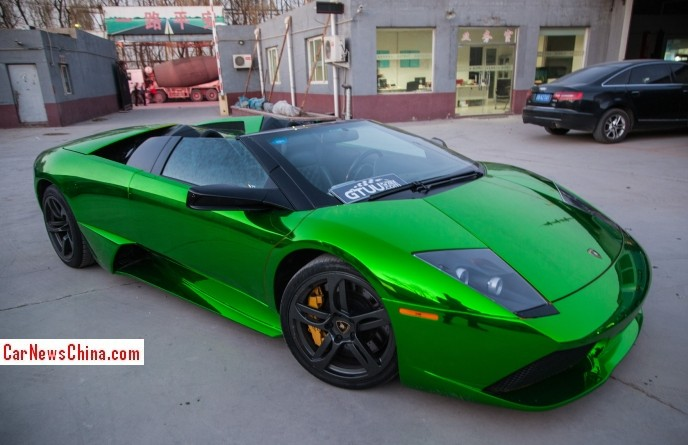Lamborghini Murcielago Roadster Is Shiny Green In China